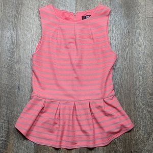 Pink striped babydoll Sleeveless Top Mossimo